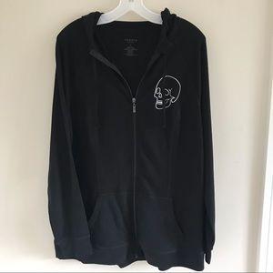 Torrid active wear skull hoodie